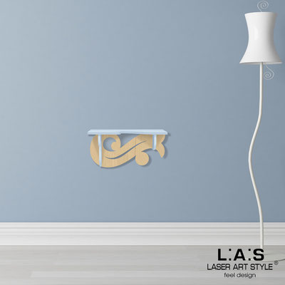 Furnishings </br> Code: MW-284 | Size: 60x30 cm </br> Colour: grey light blue-natural wood