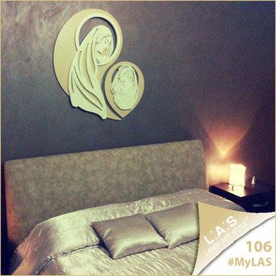 A casa di Valentina ed Alessandro <br> Abitazione privata | Italia </br> Codice: SI-266-MB | Misura: 80x90 cm </br> Colore: cammello-sabbia
