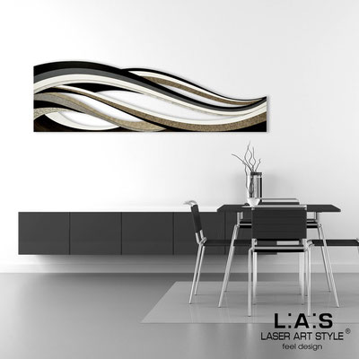 Abstract wall sculptures </br> Code: SI-114 | Size: 180x55 cm </br> Colour: black decoration-wood engraving