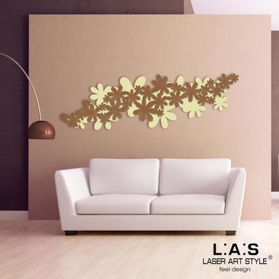 Floral wall sculpture </br> Code: SI-208 | Size: 180x60 cm </br> Colour: sand-bronze