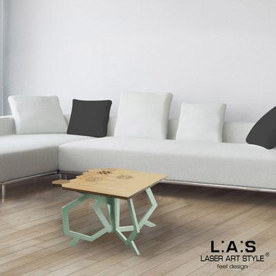 Complementi d'arredo </br> Codice: MW-316 | Misura: 60x60 h50 cm </br> Colore: natural wood-grigio verde-incisione legno