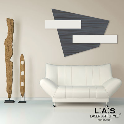 Abstract wall sculptures </br> Code: SI-189 | Size: 150x100 cm </br> Colour: charcoal grey-cream-wood engraving