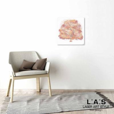 Quarantotto </br>  Codice: Q-006 | Misura: 48x48 cm </br> Colore: decoro pesca-incisione legno