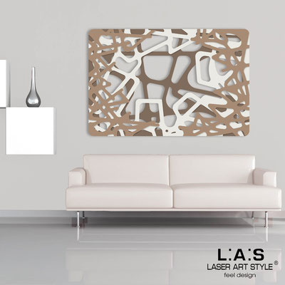 Abstract wall sculptures </br> Code: SI-144 | Size: 150x100 cm </br> Colour: dove grey-cream-hazel