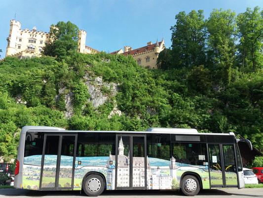 Schloss Hohenschwangau. Busfahrt zur Marienbrücke kann zugebucht werden