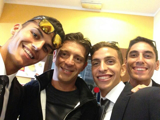 Giovanni Reina a Coverciano con Nicola Rizzoli ed altri talent