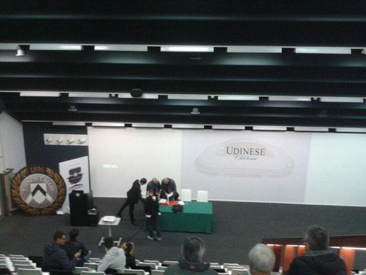 ancora una immagine della RTO della sezione di Udine presso la sede dell'udinese