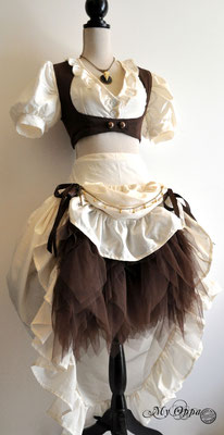 Création Steampunk été Bohème 2015 costume dress fashion creation skirt corset jacket corsetry