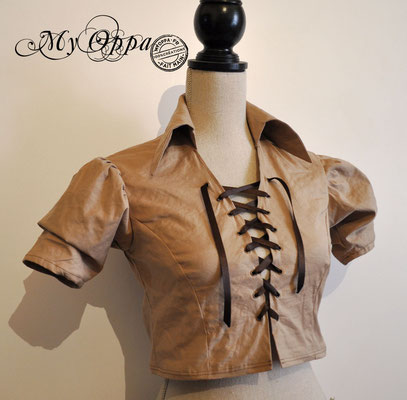 chemise courte steampunk my oppa