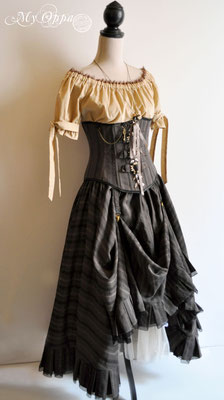 Création My Oppa Tenue steampunk pirate fashion dress corset 2019 corsetry underbust