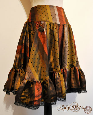 creation jupe steampunk my oppa polka skirt fashion
