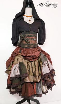 My Oppa creation steampunk boheme bohemian boho 2020 underbust corsetry