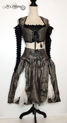 Creation My Oppa The FantaSteam Show 2020 Bohemian burlesque steampunk corsetry boho