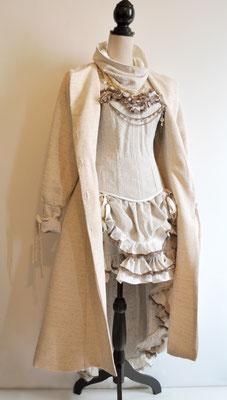 Création My Oppa Tenue steampunk mori bohemian lady autumn coat dress corsetry 2019 corsetry coat