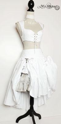 My Oppa creation steampunk mori white wedding mariage blanc tenue costume