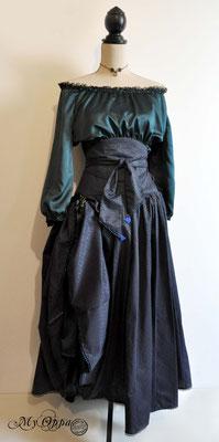 Création My Oppa Tenue bohème Bleue 2019 dress fashion creation Bohemian blue