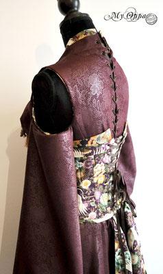Creation My Oppa Fashion show steampunk asian kimono corset 2017 japan corsetrey coat