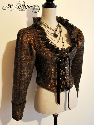 my oppa creation steampunk veste vetement