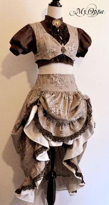 Création My Oppa Lady steampunk 2014 costume dress fashion creation skirt corset jacket