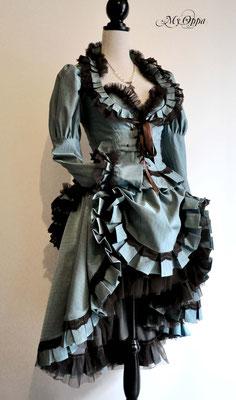 Creation My Oppa Fashion show steampunk Conte reine des neiges the snow queen  2014 corsetrey jacket