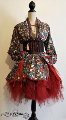 Création My Oppa Tenue bohème reb bohemian fashion dress 2019  corsetry underbust