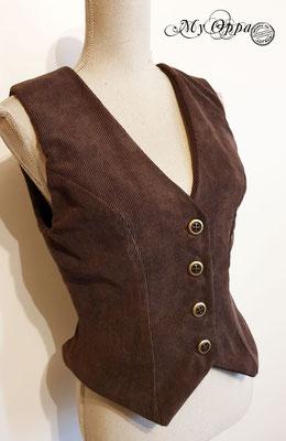 waiscoat steampunk velours marron creation my oppa clothes vêtement
