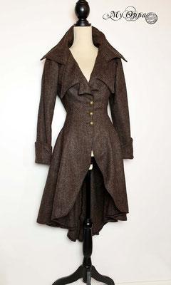 my oppa veste longue coat steampunk creation
