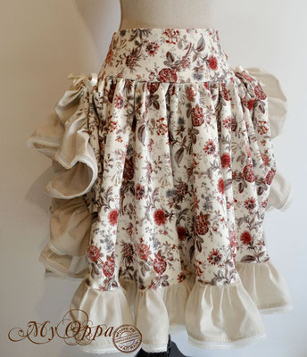 creation my oppa skirt steampunk clothes fashion costume flowers