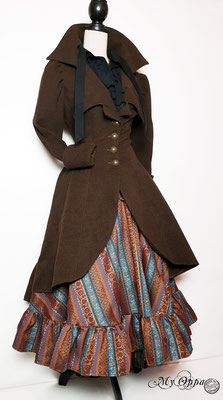 My Oppa creation patchwork 2020 steampunk coat