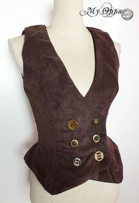 my oppa waiscoat gilet steampunk clothes vêtements velours cotelé creation