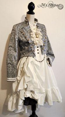 Création My Oppa Mori 2016 costume dress fashion creation skirt corset jacket corsetry