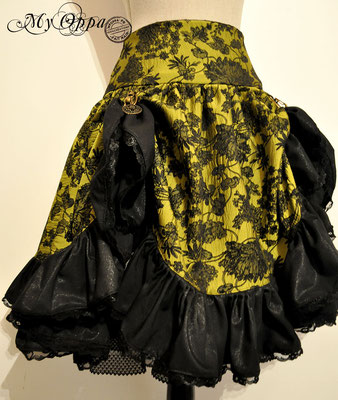 creation my oppa skirt steampunk clothes fashion flowers green costume