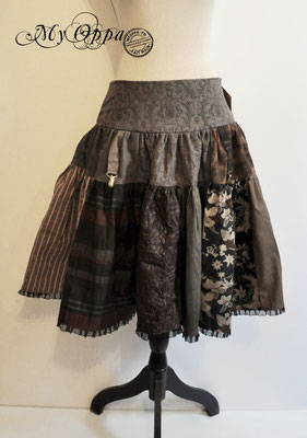 creation my oppa skirt steampunk clothes fashion patchwork