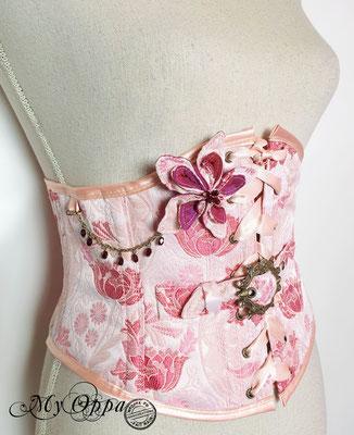 serre taille kimono belt coreset underbust my oppa