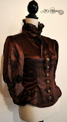 chemise marron steampunk my oppa