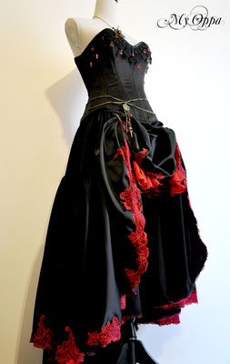 Creation My Oppa Fashion show steampunk Conte The Vampire Cat of Nabeshima 2014 corsetrey jacket