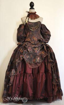 Creation My Oppa Fashion show steampunk mori  2016 dress corsetrey jacket bohemian