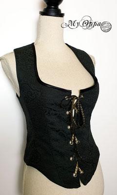 my oppa waiscoat gilet boho bohemian creation steampunk black