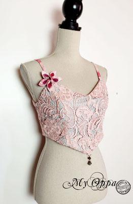 haut kimono rose reversible my oppa création