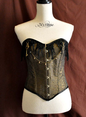Serre taille underbust steampunk corset My Oppa