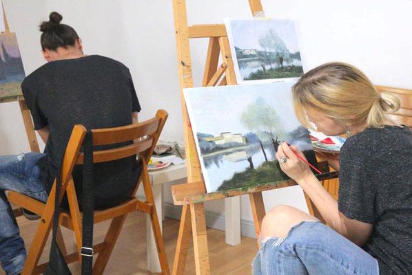 Tagesmalkurs  in der Kunstschule Artgeschoss