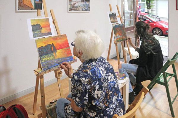 Claude Monet in der Kunstschule Artgeschoss