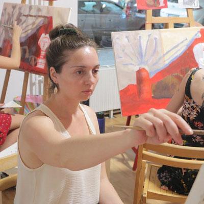 Schüler der Kunstschule Artgeschoss