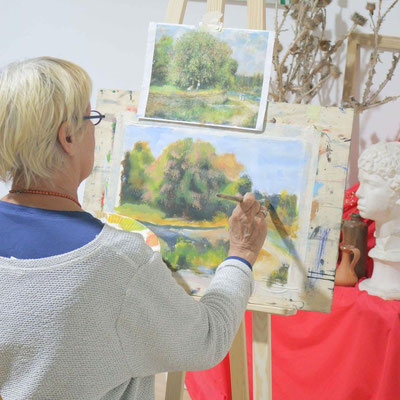 Malen wie Impressionisten In der Kunstschule Artgeschoss