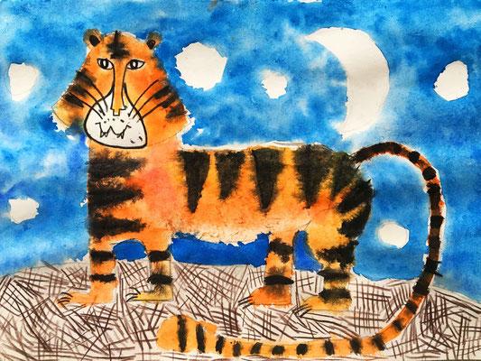 Kinder malen lernen. Aquarellmalerei für Kinder.