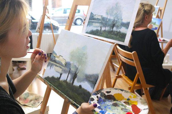 Acrylmalerei  in der Kunstschule Artgeschoss