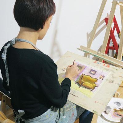 Aquarellmalerei In der Kunstschule Artgeschoss