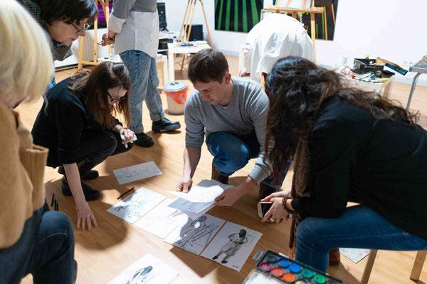 Skizzentag in der Kunstschule Artgeschoss