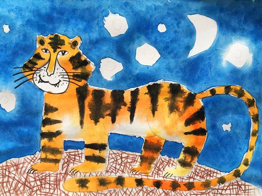 Malen lernen für Kinder. Aquarellmalerei für Kinder.