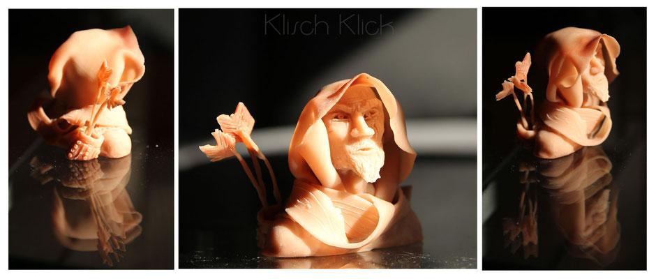 Super Sculpey freie Arbeit, unbemalt